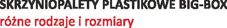 Skrzyniopalety plastikowe BIG-BOX