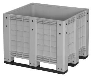 Skrzyniopaleta plastikowa Mega-Box  Heavy Duty na 3 płozach