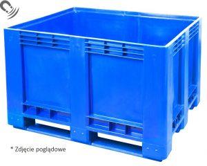 FACH-PAK Skrzyniopaleta FBG1210K D niebieska na płozach